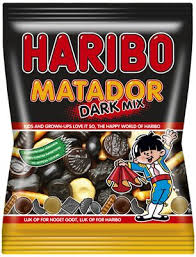 Haribon uutuus Matador Dark Mix -sekoituspussi. Kuva: news.cision.com